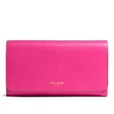 Soft Wallet In Saffiano Leather