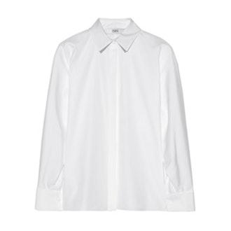 Dolman-Sleeve Poplin Shirt