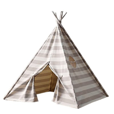 Canvas Striped Play Tent