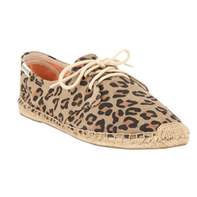 Lace-Up Derby Flat Espadrille