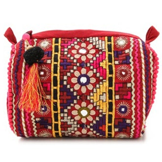 Embroidered Cosmetic Bag