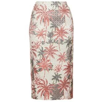Jacquard Palm Skirt