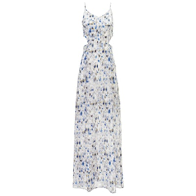 Blue Silk Charlotte Dress