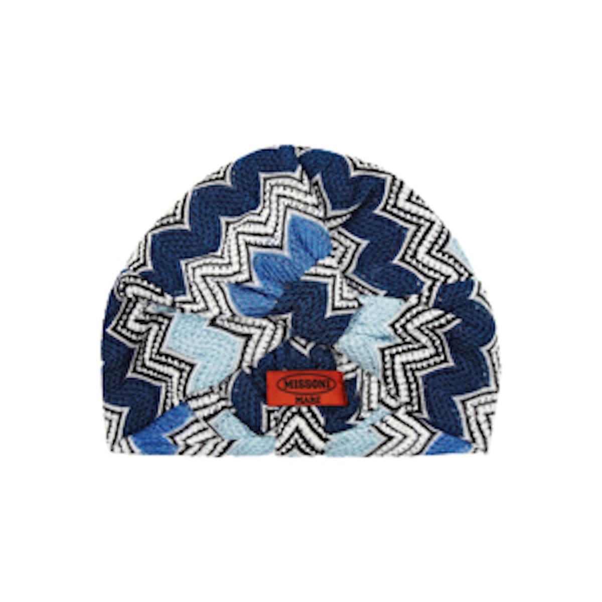 Metallic Crochet Knit Turban