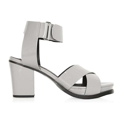 Pale Grey Cross Over Sandals
