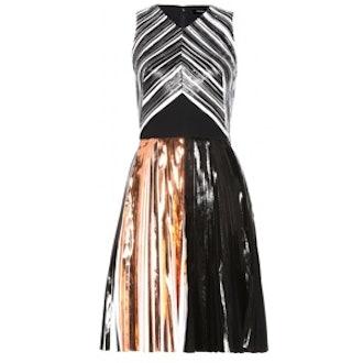 Textured-Satin Dress