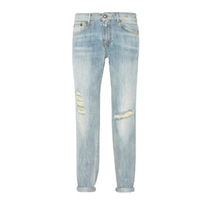 Relaxed Skinny Distressed Jeans