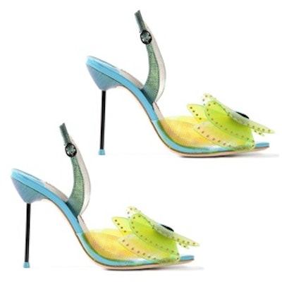 Leah Iridescent Bow Sandal