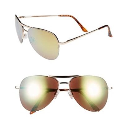 Semi Rimless Aviator Sunglasses