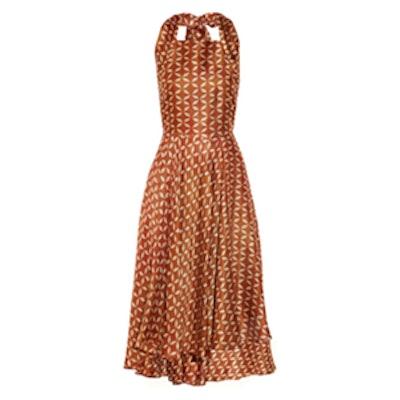 Printed Gazar Dress