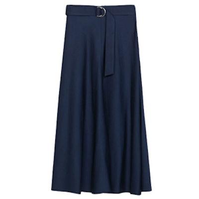 Midi Skirt With Belt