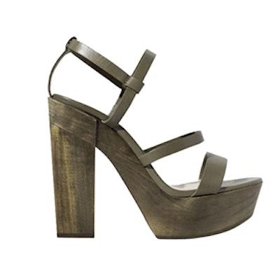 Leather Platform Sandal