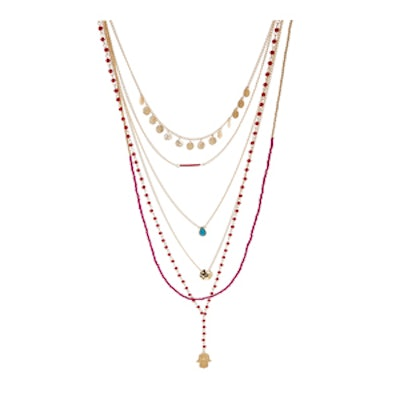Multi-Row Rosary Necklace