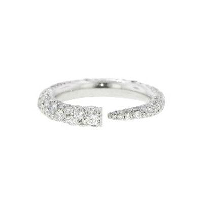 Pave Diamond Gatsby Horn Ring