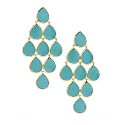 Turquoise Cascade Earrings