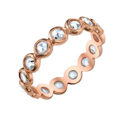 Rose Cut Diamond & Rose Gold Ring