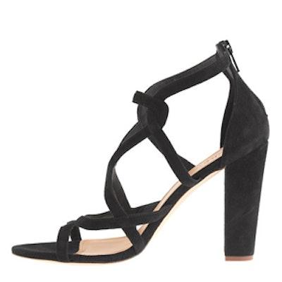 Suede Geometric Sandal