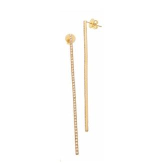 Diamond Pave Bar Earrings