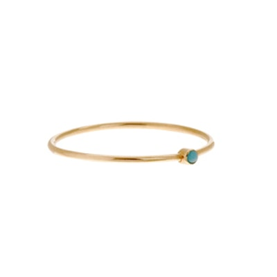 Gold & Turquoise Stacking Ring