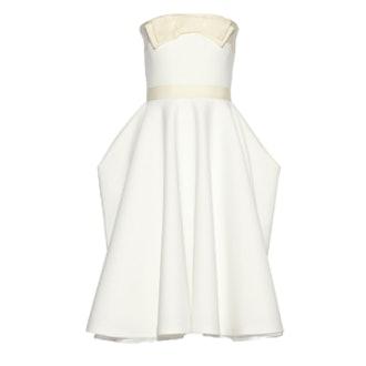 Grosgrain Trim Pique Dress