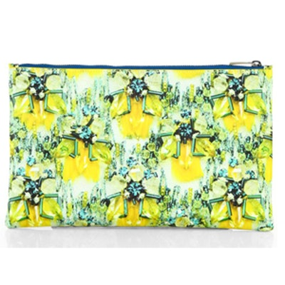Embellishment-Printed Leather Pouch