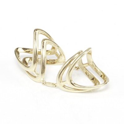 14K Gold Double Bermuda Knuckle Ring