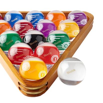 Personalized Pool Ball Set & Rack