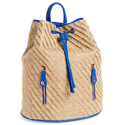 Brisbane Woven Straw Backpack