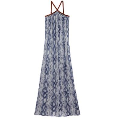 Carrigan Leather Strap Maxi Dress