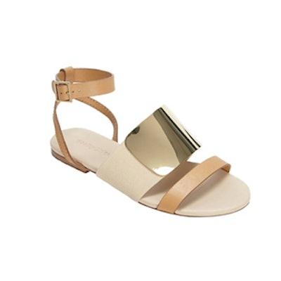 Gold Plate Flat Sandal