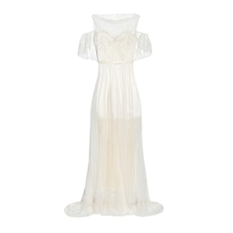 Ortygia Lace Tulle And Silk Satin Gown