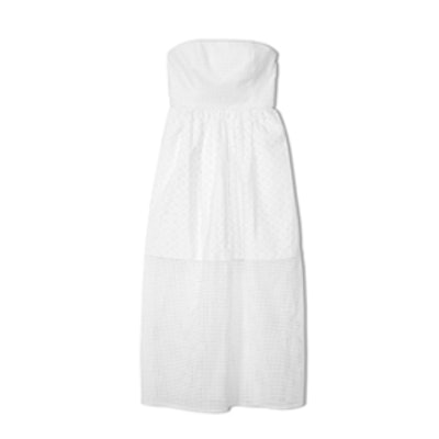 Kat Eyelet Strapless Dress
