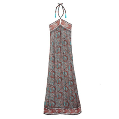 Tish Printed Silk Maxi Dress