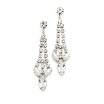 Pointed Crystal Earrings