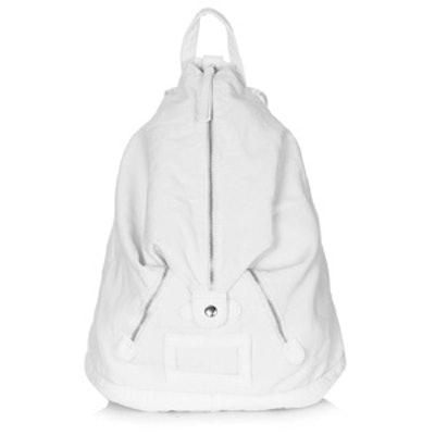 Front Zip Denim Backpack