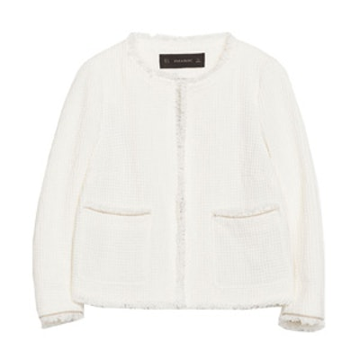 Frayed Structured Jacket