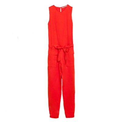 Sleeveless Jumpsuit in Coral