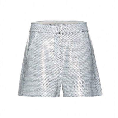 Tine Sequined Silk Shorts