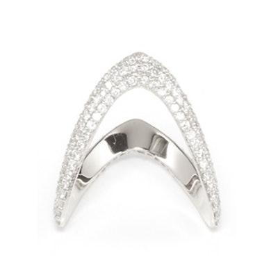 Bermuda Ring with Diamonds