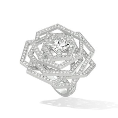 Medium 1932 Ring in 18K Gold and Diamonds