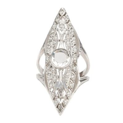 Art Deco Marquis Ring