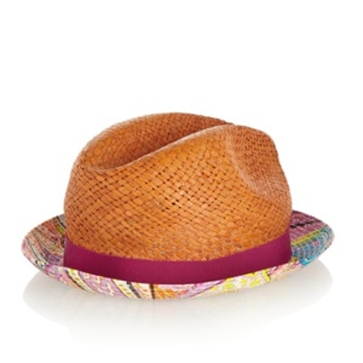 Woven and Cotton Fedora