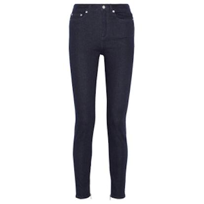 8 High-Rise Skinny Jeans
