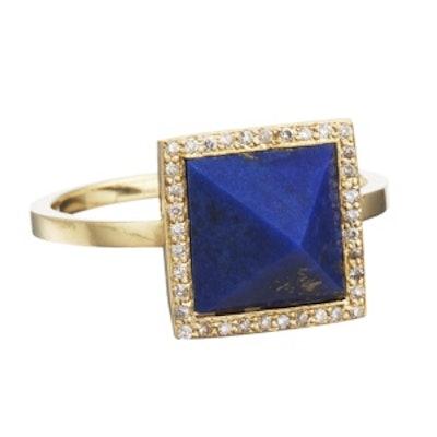 Diamond and Lapis Ring