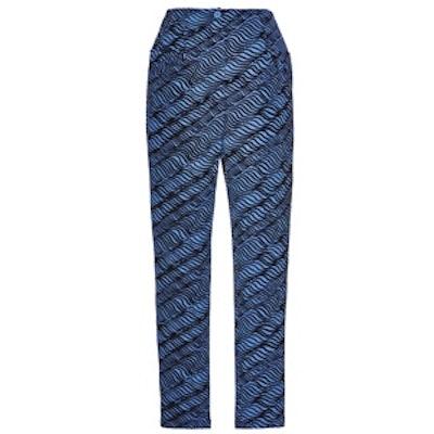 High Waist Cropped Jacquard Pants