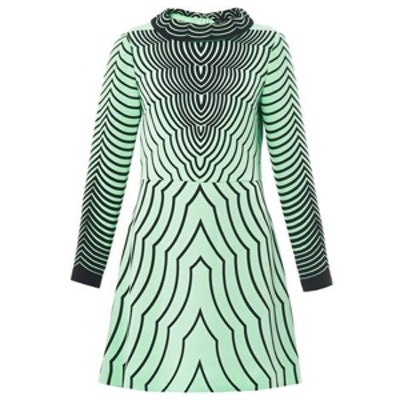 Radio Waves Print Dress