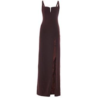 Hidden Corset Crepe Gown