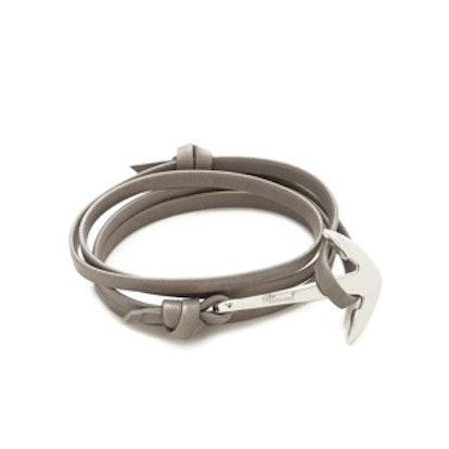 Anchor Leather Wrap Bracelet