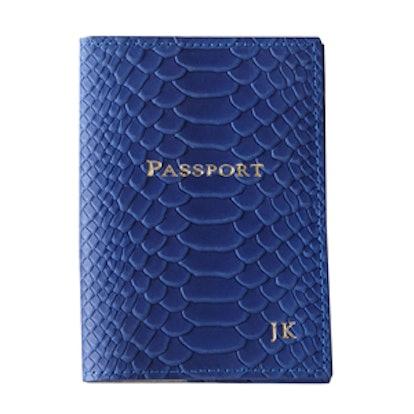Monogrammed Passport Cover