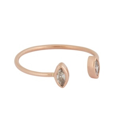 Diamond and Rose Gold Cuff Ring